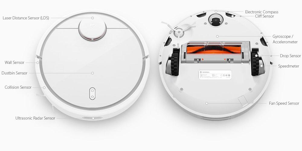 xiaomi mi robot vacuum sensors