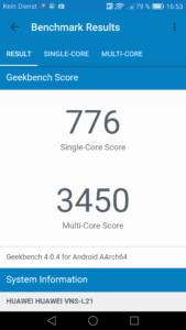 Huawei P9 Lite Geekbench 4