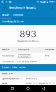 Nomu S20 Geekbench 4 2