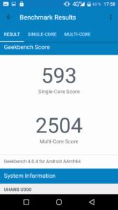Uhans U300 Geekbench 169x300