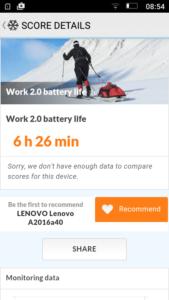 Lenovo Vibe B Benchmarks 5 1