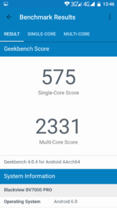 Blackview BV7000 Pro Geekbench 4 1