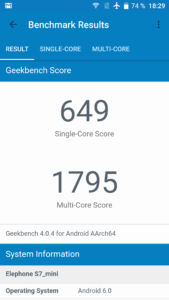 Elephone S7 Mini Geekbench 4 169x300