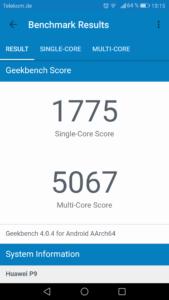 Huawei P9 Geekbench 4 1