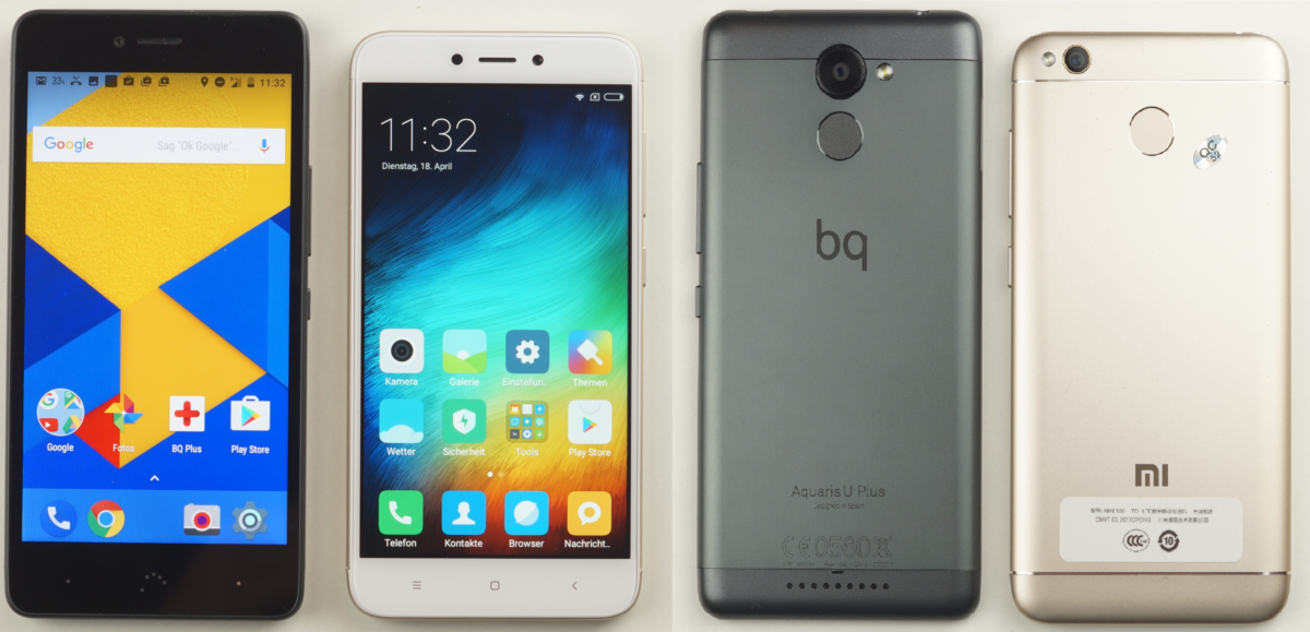 BQ U Plus vs Redmi 4X