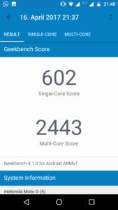 Lenovo Moto G5 Geekbench 4 2
