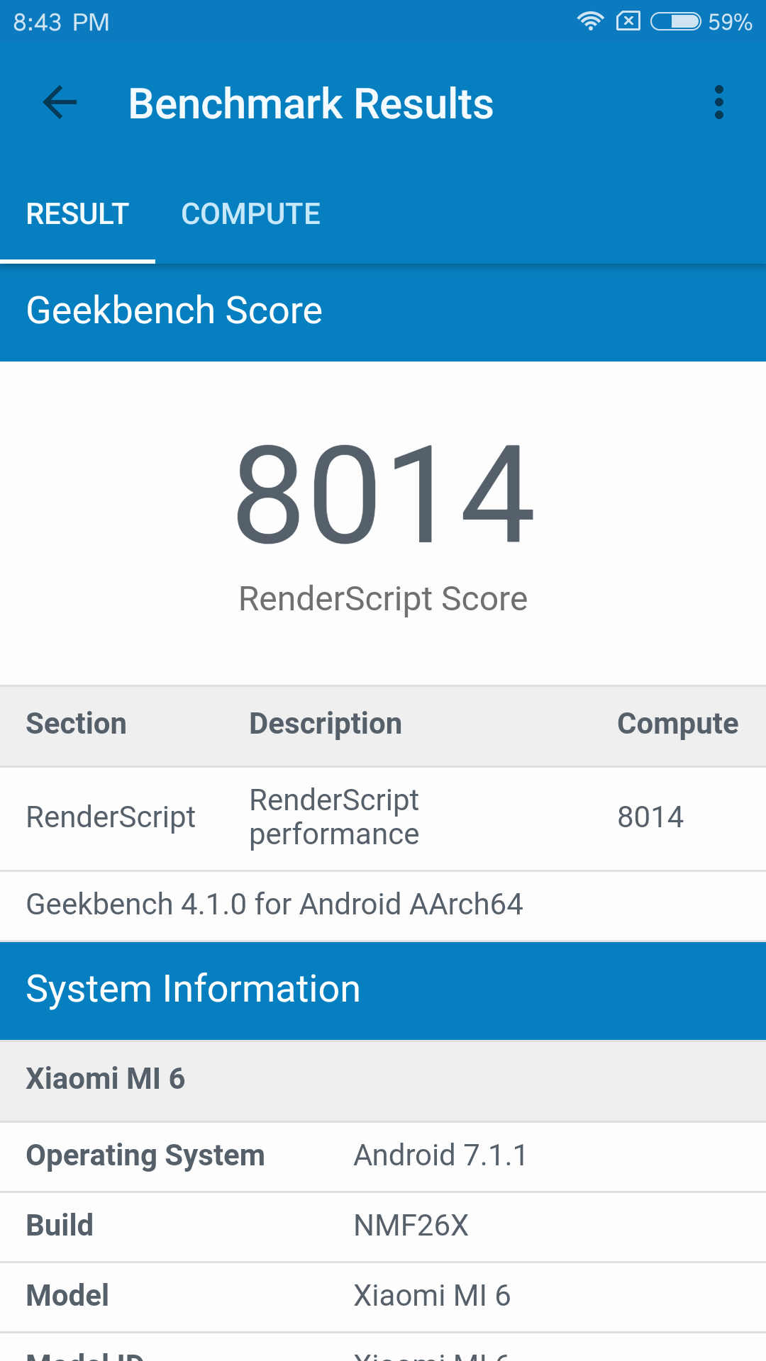 Xiaomi Mi6 Geekbench 4 1
