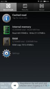 Xiaomi Mi6 Speicher Geschwindigkeiten 169x300