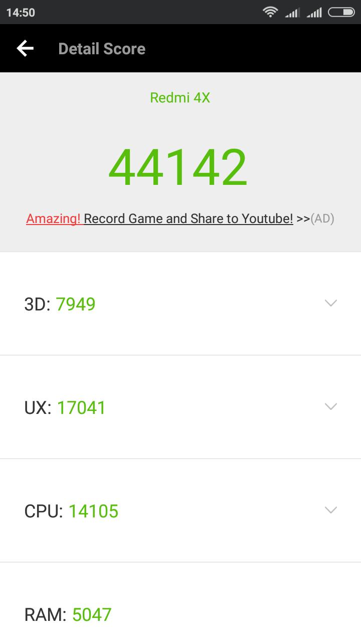 Xiaomi Redmi 4X Antutu