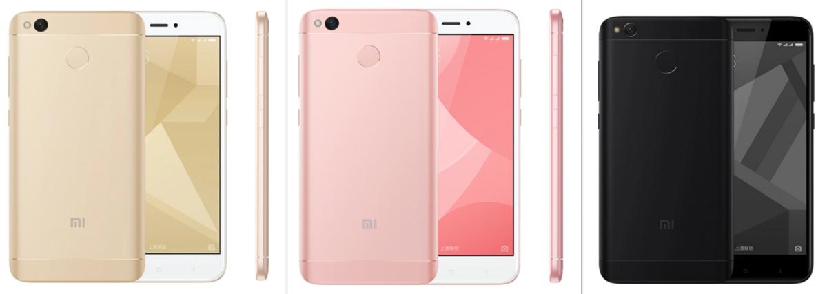 Xiaomi Redmi 4X Farben mattschwarz