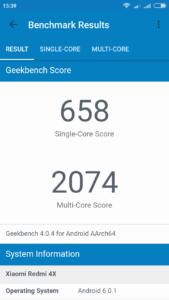 Xiaomi Redmi 4X Geekbench 4 1