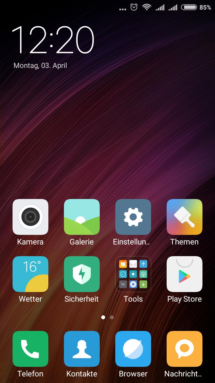 Xiaomi Redmi 4X System MIUI 2