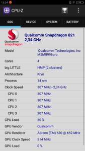 ZUK Edge CPU Z