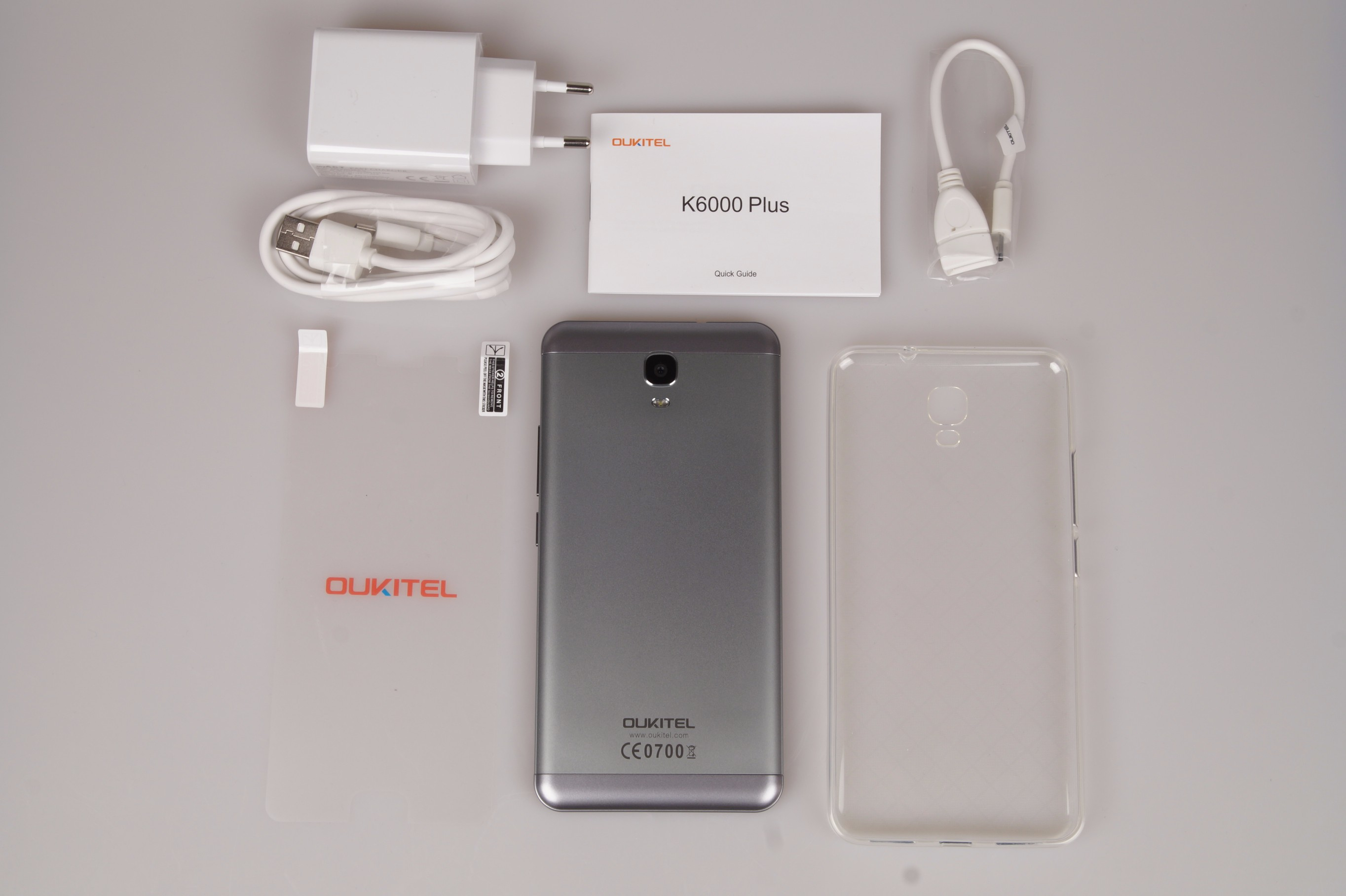 Oukitel K6000 Plus scope of delivery