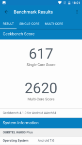 Oukitel K6000Plus Benchmark 2