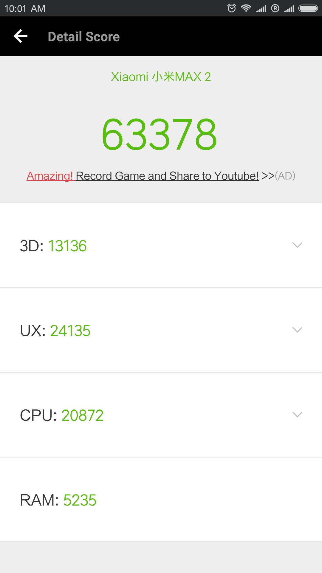 Xiaomi Mi Max 2 Antutu Benchmark