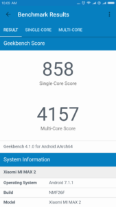 Xiaomi Mi Max 2 Geekbench 4