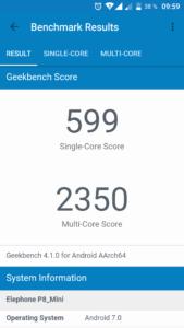 Elephone P8 Mini Geekbench 1 169x300
