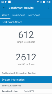 Oukitel K10000 Geekbench 4