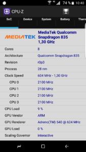 Samsung Galaxy S8 Clone CPU Z