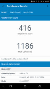 Leagoo M7 - Geekbench