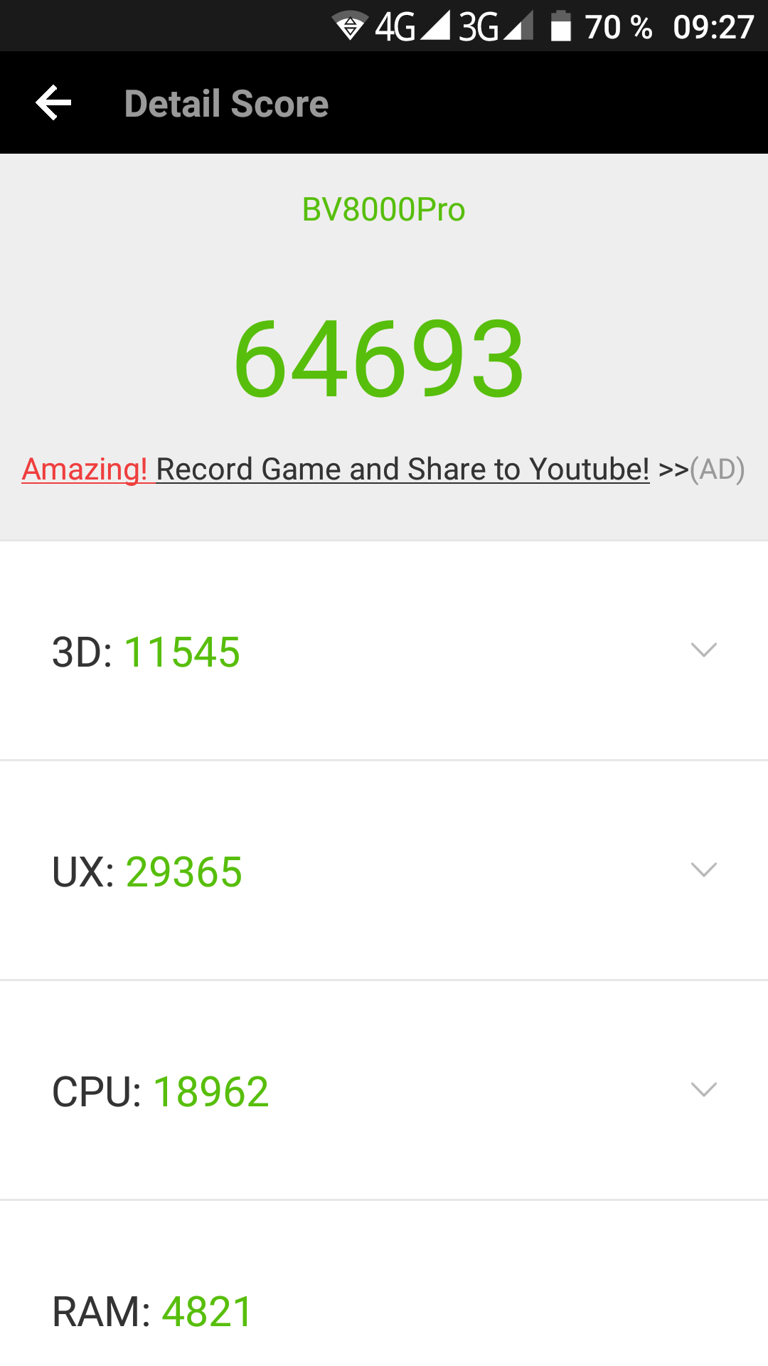 Blackview BV8000 Pro Antutu Benchmark