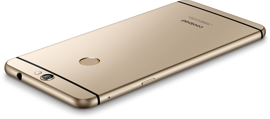 Das Coolpad Max in Champagner Gold