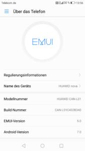 Huawei Nova EMUI System 11