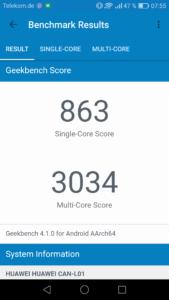 Huawei Nova Geekbench 4