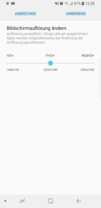Samsung Galaxy S8 Displayauflösung