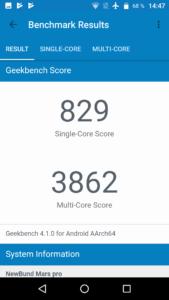 Vernee Mars Pro Geekbench 4