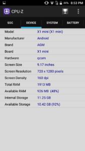AGM X1 mini CPU Z1 169x300