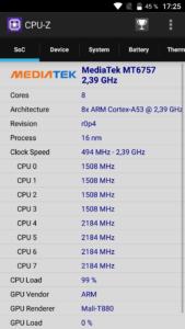 Elephone P8 CPUZ
