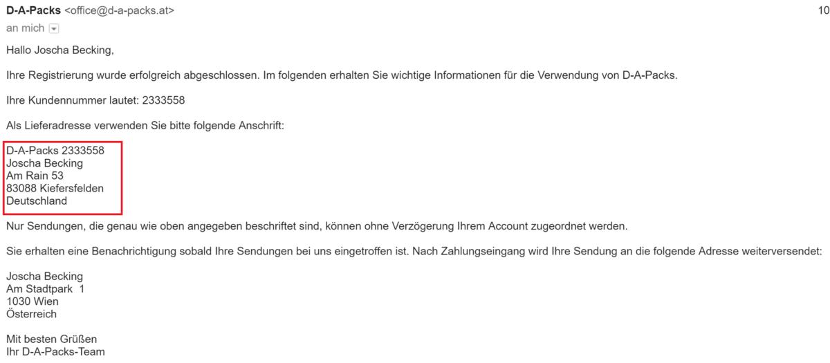 Germany Express Versand nach Österreich 3