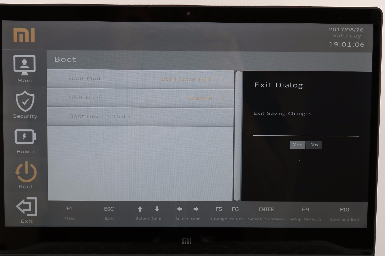 Windows installieren Mi Notebook Air 5