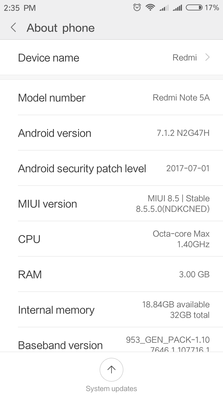 MIUI V8.5 Android 7.1 System 3