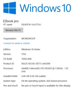Jumper EzBook 3 Pro Win10 261x300