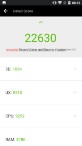 Blackview A7 Benchmark 1