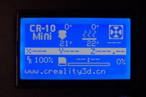 Creality3D CR-10 Mini Menü #1