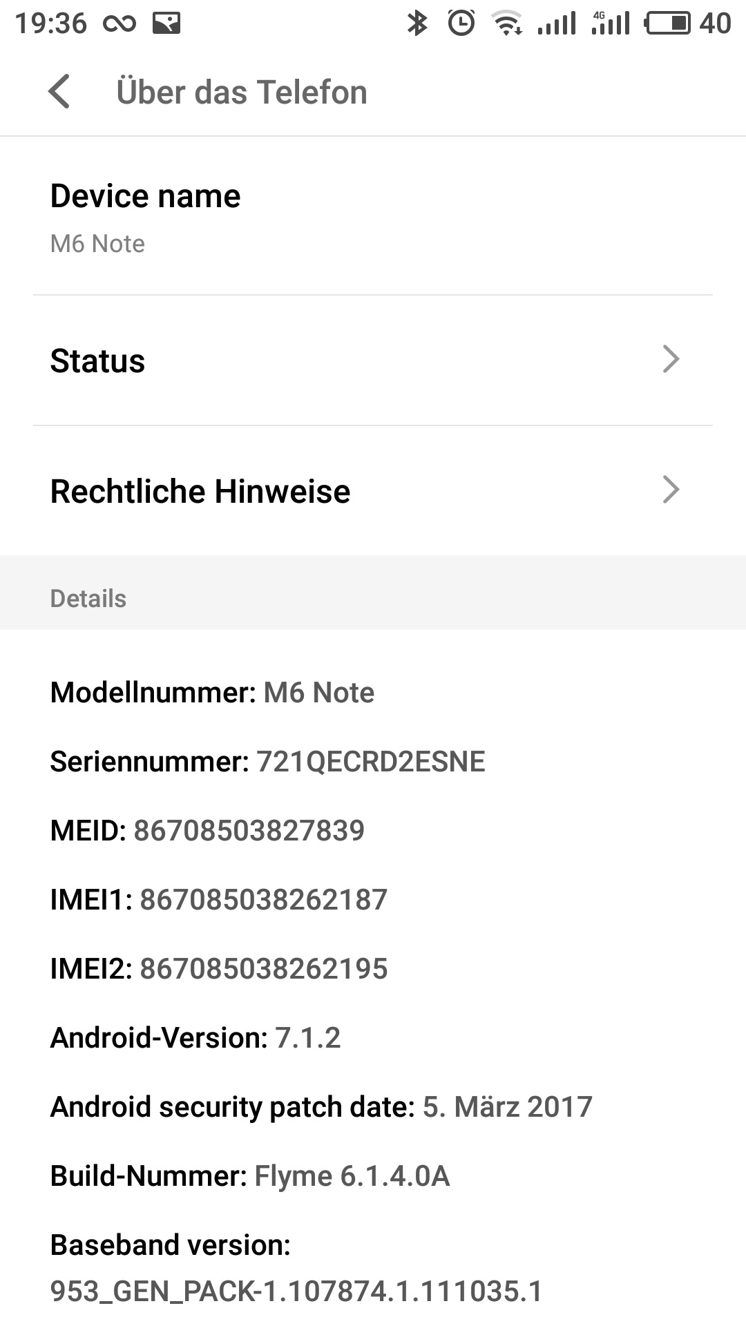 Meizu m6 note Flyme OS 6 System 1