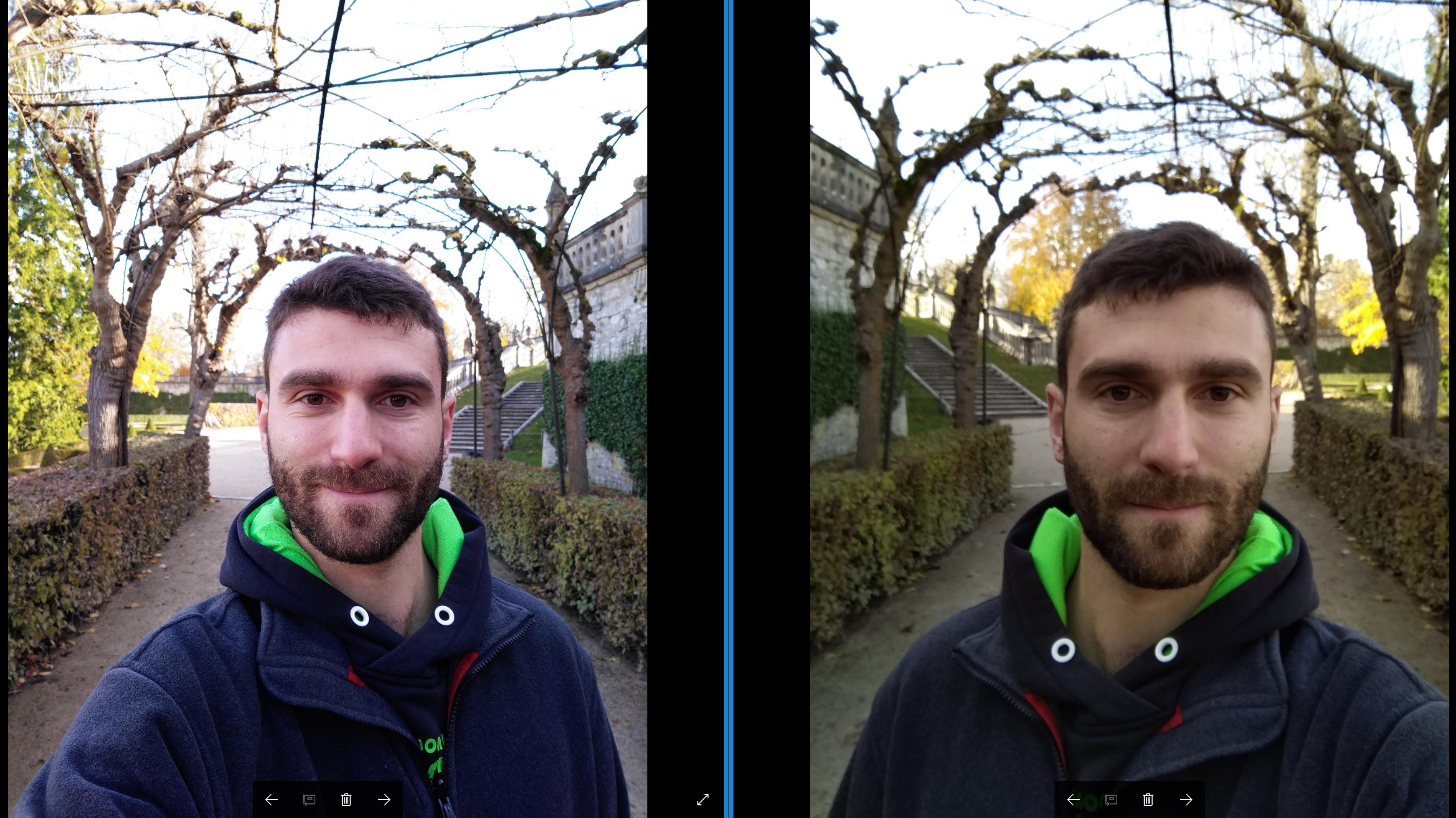 Selfie Vergleich Meizu vs. Xiaomi