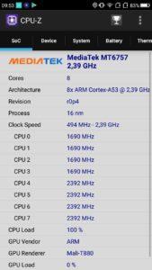 Umidigi S CPU Z