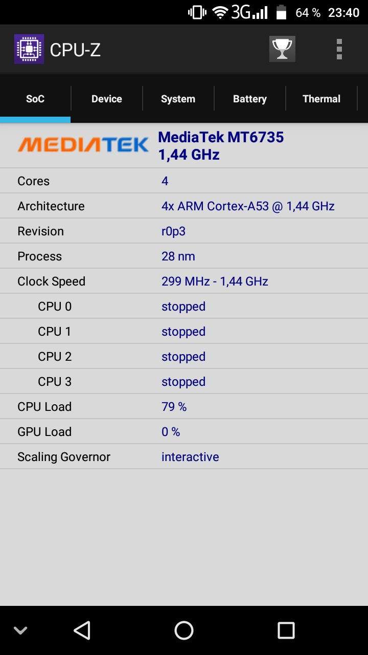 Nomu S10 Pro CPU Z