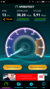 Nubia M2 Wifi Test