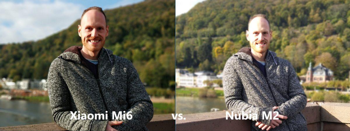 Xiaomi Mi6 vs Nubia M2 Dual Cam Sample