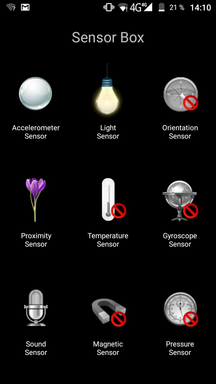Vernee Thor Plus Sensoren