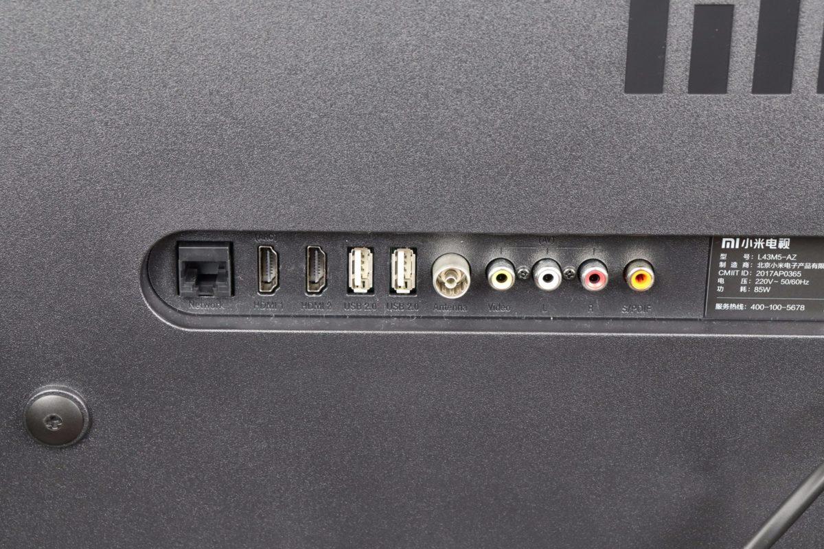 Anschlüsse Xiaomi TV 4A 1
