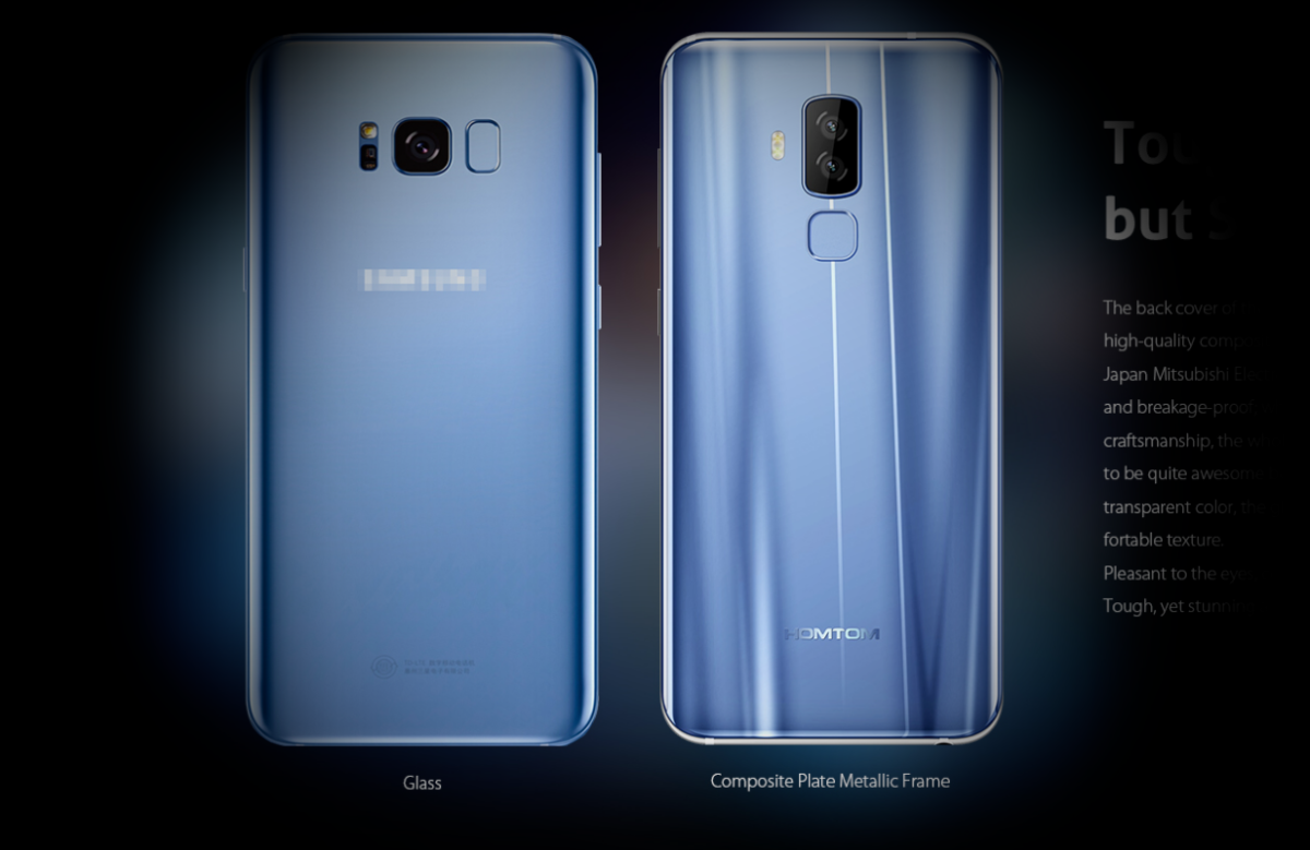 HomTom S8 vs. Galaxy S8 Backcover