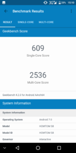 Homtom S8 Geekbench