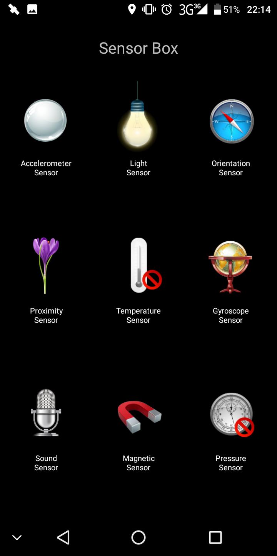 Homtom S8 Sensors
